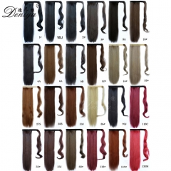 "33 colors 24""Synthetic Long Straight Clip in Wrap Around Ponytail 100G"