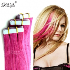 7A Quality human hair extensions TAPE IN weft