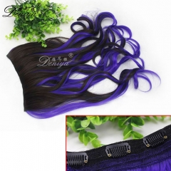 cheap price wholesale ombre color synthetic clip in hair extensions