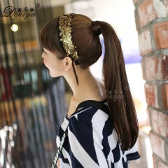 Straight synthetic horse taile fashion pony tail apply hair extension
